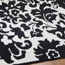 Black And White Bathroom Rug by Damask Bathroom Rug Rugs Ideas