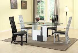 Glass Rectangular Dining Table Dining Tables Rectangular Glass Top Dining Table With Wood Base