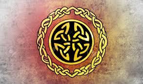 celtic shield sketch of tattoo art ornament design stock photo