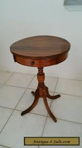drum table for sale vintage antique federal style solid walnut 1 drawer drum table
