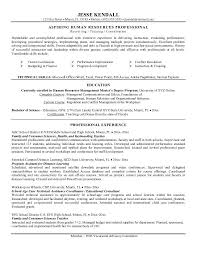 Hr Resume Sample by Hr Resume Objective Resume Templates