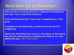 ks4 what is world book day world book day is a worldwide