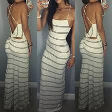 sexi maxi dresses summer dress maxi dresses backless stripes strapless women
