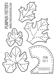 pumpkin leaves coloring pages eson me