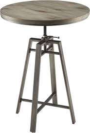 adjustable height bar table coaster 10181 bar table with swivel adjustable height mechanism in