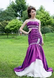 Purple Wedding Dress Fashional Mermaid Purple Wedding Dress Bridal Gown Evening Dress