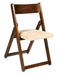 Folding Dining Chairs Padded Wooden Indoor Folding Chair From Dutchcrafters Amish Furniture