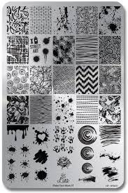 lina nail art supplies make your make 01 stamping plate swatches