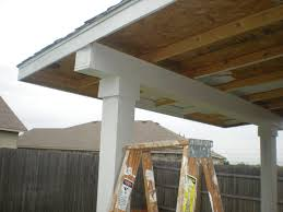 porch roof construction pictures
