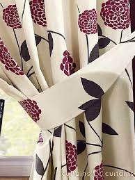 Purple And Cream Striped Curtains Ready Made Striped Curtains Curtain U0026 Curtains Uk