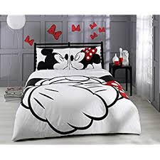 Mickey Duvet Cover Amazon Com Paris Home 100 Cotton 5pcs Disney Minnie Loves Kisses