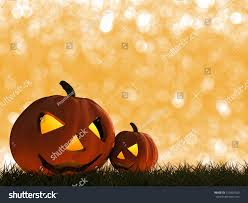 free halloween orange background pumpkin 3d rendered halloween pumpkins on orange stock illustration