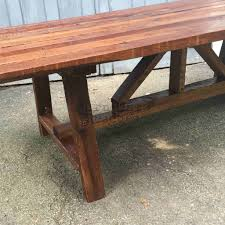 106 year old reclaimed wood dining table furniture rescues