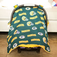 bay bay baby green bay packers baby gear carseat canopy cover nfl licensed