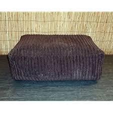 zippy washable brown jumbo cord bean bag footstool cube size