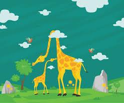 free cartoon giraffe illustration vector art u0026 graphics