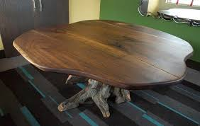 live edge round table high end furniture design in colorado t scholl fine woodworks t