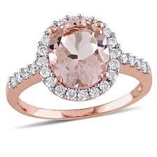 pink morganite 10k gold 2 92ctw pink morganite and diamond ring 8252961 hsn