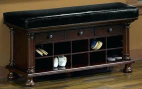 bench and shoe storage leather entryway storage bench shoe rack