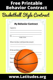 free behavior contract basketball style acn latitudes