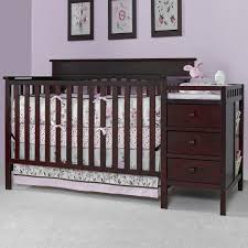 Lauren 4 In 1 Convertible Crib by Bedroom Terrific Charming Black Crib Changer Combo With Drawers