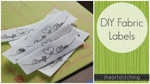 printable fabric tags diy fabric labels youtube
