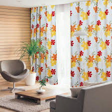 country cheap long curtains are all of bright flower patterns
