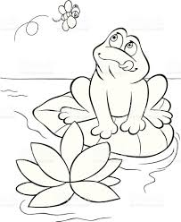 hungry frog coloring book stock vector art 162980339 istock