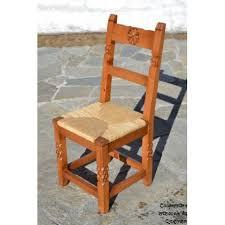 chaise dorée chaise bois sculpté paillée dorée chaise artisanale de salle à