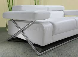 White Leather Sofa Modern Modern Italian Leather 3pc Living Room Set Linx White