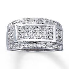 mens engagement rings kay men u0027s diamond ring 1 ct tw round cut 10k white gold