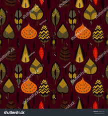 cute autumn backgrounds cute autumn background retro cartoon leafs stock vector 329261729