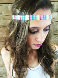 hippy headband rainbow headband pride coachella hair accessories pride