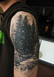pine trees arm tattoomagz
