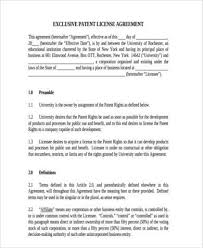licensing agreement template free sample license agreement forms 7 free documents in word pdf