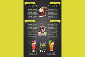 menu template 30 food drink menu templates design shack