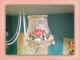 how to make a shabby chic silk embroidered lampshade youtube