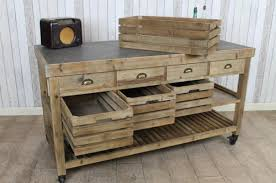 vintage kitchen island zinc top kitchen island large reclaimed pine kitchen storage island