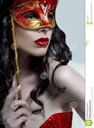 halloween woman mask lady in mask royalty free stock photography image 17357367