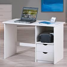 bureau bois massif blanc bureau informatique sinus 3 tiroirs bois massif blanc vernis