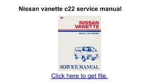 nissan vanette c22 service manual docs
