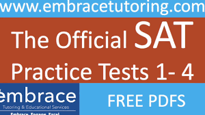 official sat practice tests 1 4 free pdfs youtube