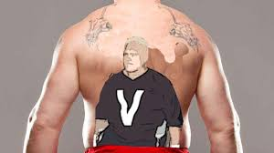 the cameo by brock lesnar u0027s tramp stamp freakin u0027 awesome