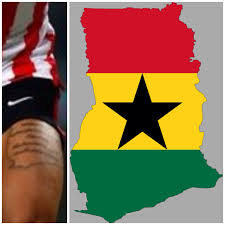 Map Of Ghana Memphis Depay U0027s Tattoo Of Ghana Map Sedinamblog Wordpress Com