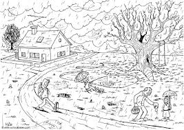 nature scene coloring pages kids coloring pages dr odd