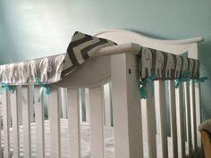 blue and taupe paisley 3 piece crib bedding set crib rail cover