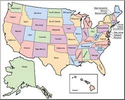 us map states by color us map clip united states map color labeled image 28443