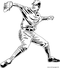 pitcher baseball a251 coloring pages printable