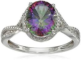 topaz rings prices images Sterling silver mystic fire topaz and diamond jpg