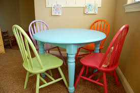 colorful dining room sets kitchen table diy painted farmhouse table spray painting old